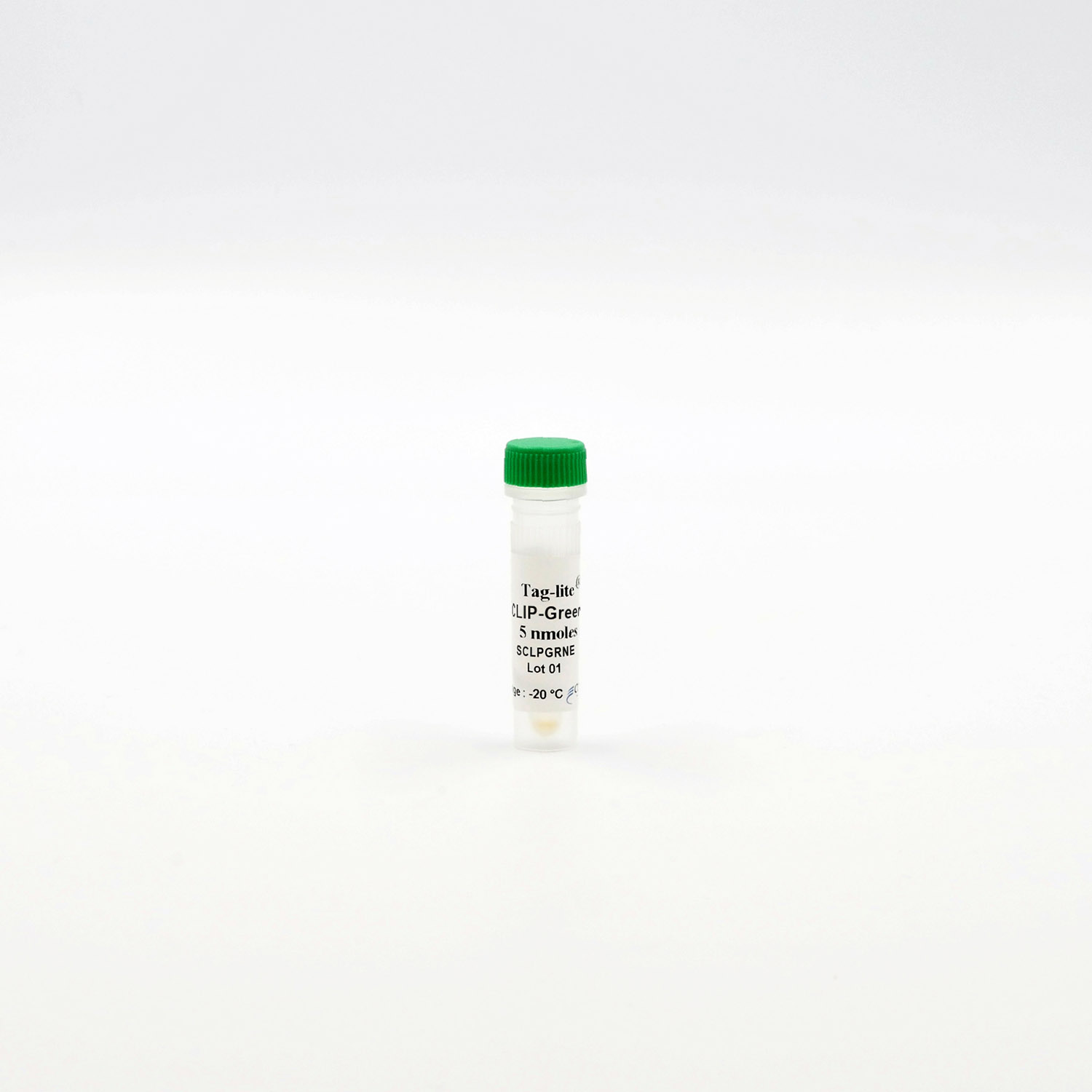 Photography of CLIP-Green vial